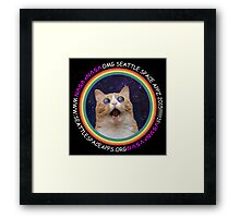 Seattle Space Apps 2015: lolcat design Framed Print