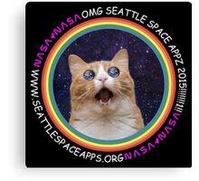 Seattle Space Apps 2015: lolcat design Canvas Print