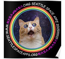 Seattle Space Apps 2015: lolcat design Poster