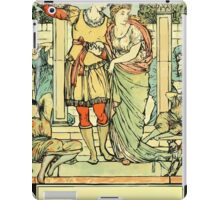 The Sleeping Beauty Picture Book Plate - He Led Her from the Hall iPad Case/Skin