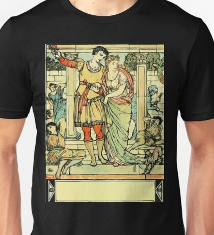 The Sleeping Beauty Picture Book Plate - He Led Her from the Hall Unisex T-Shirt
