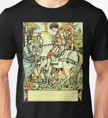 The Sleeping Beauty Picture Book Plate - An Aged Peasant Told of an Enchanted Palace Unisex T-Shirt