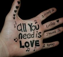 All you need is love by Jonathan Oakley