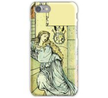 The Sleeping Beauty Picture Book Plate - Bluebeard - Come Down, Time Is Up iPhone Case/Skin