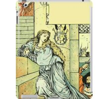 The Sleeping Beauty Picture Book Plate - Bluebeard - Come Down, Time Is Up iPad Case/Skin