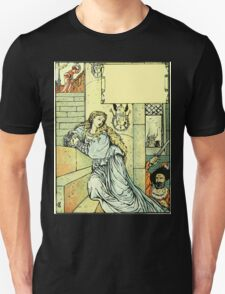 The Sleeping Beauty Picture Book Plate - Bluebeard - Come Down, Time Is Up T-Shirt