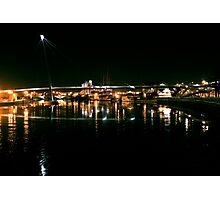 Stockton Riverside at Night. Photographic Print