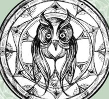 Owl patterns (green) Sticker