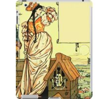 The Sleeping Beauty Picture Book Plate - Bluebeard - O Sister Anne, Go Up, Go Up, And Look Out From The Tower iPad Case/Skin