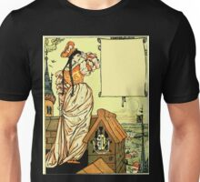 The Sleeping Beauty Picture Book Plate - Bluebeard - O Sister Anne, Go Up, Go Up, And Look Out From The Tower Unisex T-Shirt