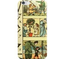 The Sleeping Beauty Picture Book Plate - The Baby's Own Alphabet - Ww Xx Yy Zz iPhone Case/Skin