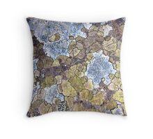Pastel Rock Patterns Throw Pillow