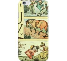 The Sleeping Beauty Picture Book Plate - The Baby's Own Alphabet - Tt Uu Vv iPhone Case/Skin