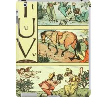 The Sleeping Beauty Picture Book Plate - The Baby's Own Alphabet - Tt Uu Vv iPad Case/Skin