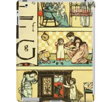 The Sleeping Beauty Picture Book Plate - The Baby's Own Alphabet - Ee, Ff, Gg iPad Case/Skin