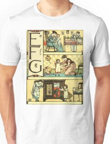 The Sleeping Beauty Picture Book Plate - The Baby's Own Alphabet - Ee, Ff, Gg Unisex T-Shirt