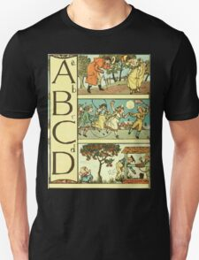 The Sleeping Beauty Picture Book Plate - The Baby's Own Alphabet - Aa Bb Cc Dd T-Shirt