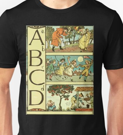 The Sleeping Beauty Picture Book Plate - The Baby's Own Alphabet - Aa Bb Cc Dd Unisex T-Shirt