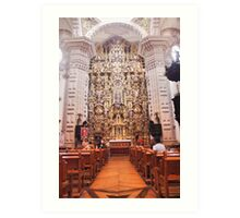Santa Prisca Parish Altar, Taxco, Mexico Art Print
