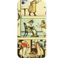 The Sleeping Beauty Picture Book Plate 011  - The Baby's Own Alphabet - Nn, Oo, Pp iPhone Case/Skin