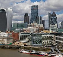 London Skyline by Keith Larby