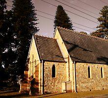All Saints Church by reflector