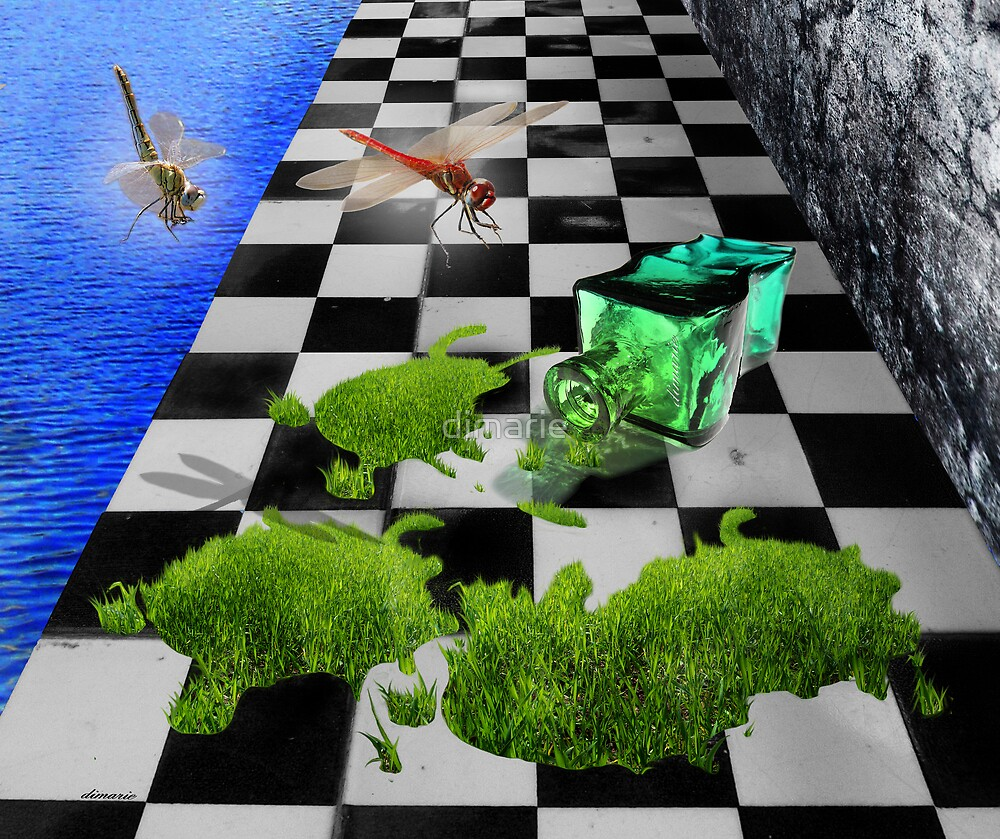 The Grass Spill by dimarie