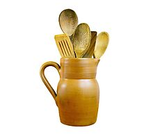 Clay Jug and Wooden Spoons by MarkUK97