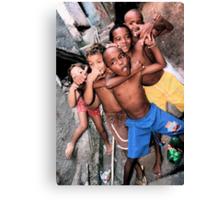 Rocinha Favela Kids, Rio De Janeiro, Brazil 2009 Canvas Print