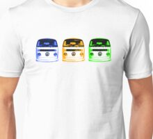 VW Kombi Shirt - Blue Orange Green Unisex T-Shirt