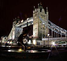 Tower Bridge Fountain by Richard Leeson