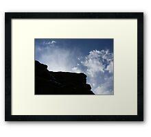 Behind the Rock Framed Print