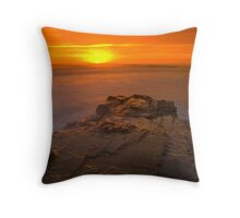 Red Sunrise Throw Pillow