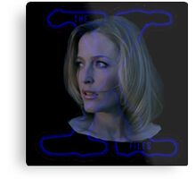 X-Files Scully now Metal Print