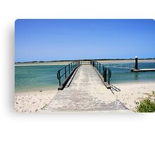 Golden Beach Jetty Canvas Print