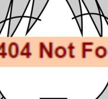 404 girl Sticker