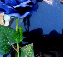 A Blue Rose (Plastic Flowers From Cemeteries #15) by Anthony DiMichele
