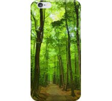 Green Light Harmony - Walking Through The Summer Forest iPhone Case/Skin