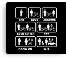 Funny Cycling T Shirt Canvas Print