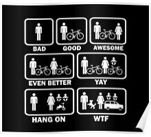 Funny Cycling T Shirt Poster