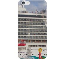 Norwegian Getaway cruise ship docked in St Maarten iPhone Case/Skin