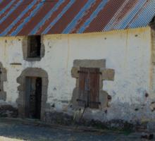 Old Farm Barn, Beganne, Brittany, France Sticker