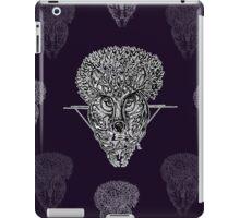 The Wolf Tree patterns (dark purple) iPad Case/Skin