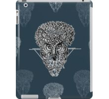 The Wolf Tree patterns (dark blue) iPad Case/Skin