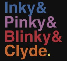Inky Pinky Blinky Clyde by Ant101