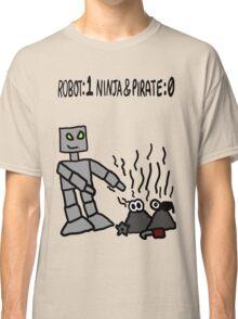 Robot vs Ninja and Pirate Classic T-Shirt