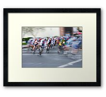 One Lap to Go... Framed Print