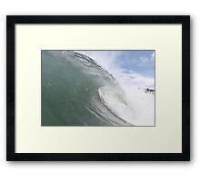sick waves Framed Print
