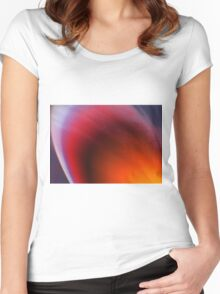 snow storm Women's Fitted Scoop T-Shirt
