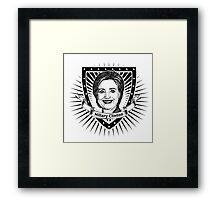 Hillary Clinton shield Framed Print